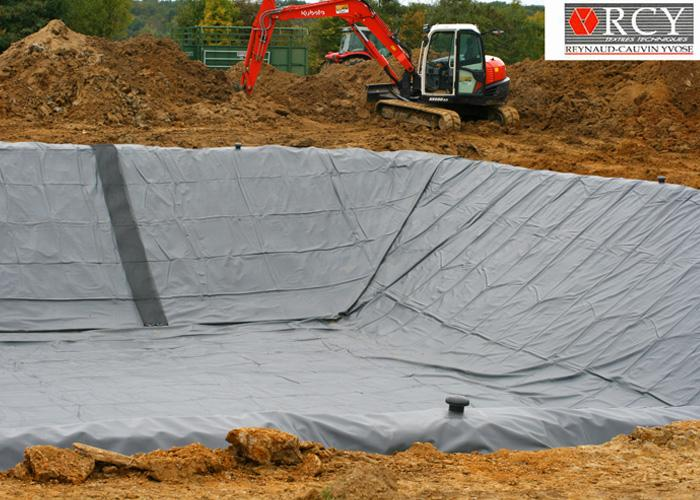 G omembrane et g otextile agricole bassin de r tention for Geotextile pour bassin
