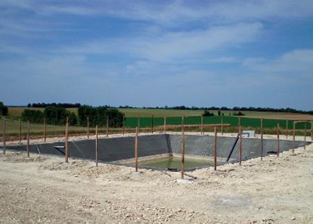 G omembrane et g otextile agricole bassin de r tention enterr rcy - Terrassement bassin de retention ...